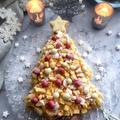HMで簡単に!!ミモザケーキのクリスマスバージョン