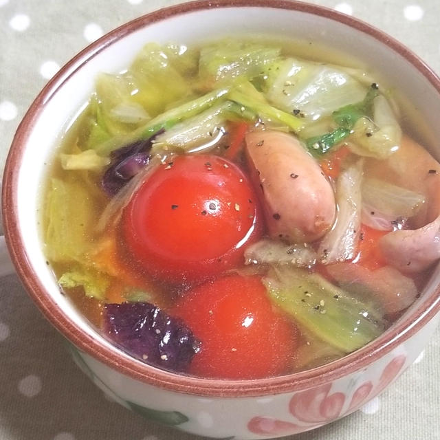 簡単レタスのスープ