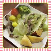 10分で作れる豚肉と野菜の簡単蒸し料理