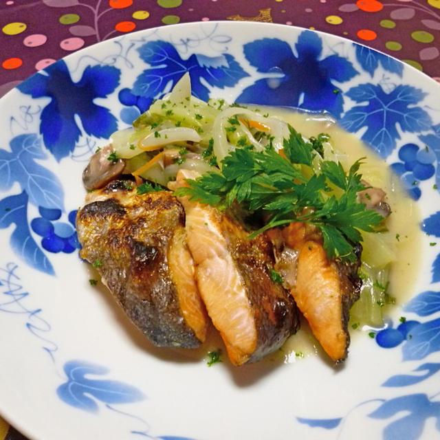 鮭のグリル白菜クリームソース