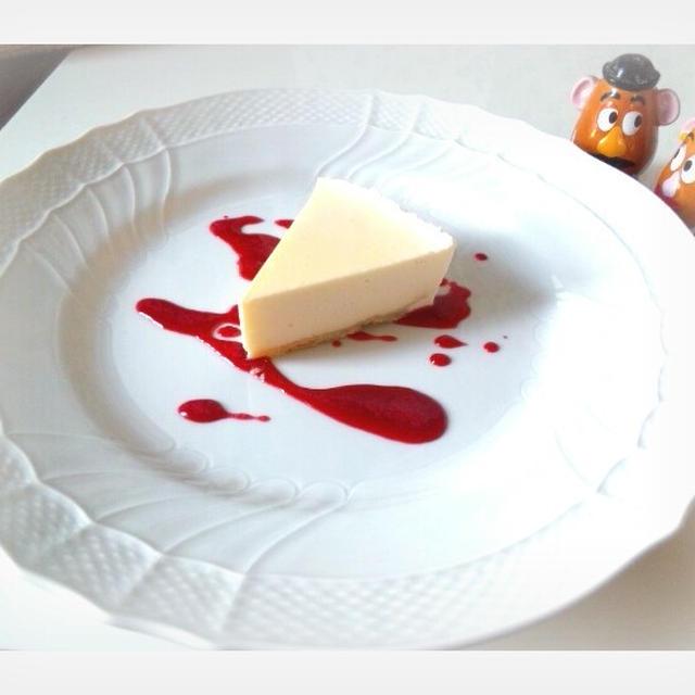 簡単レアチーズケーキ