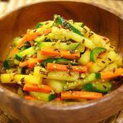 彩りスティック野菜de即席マリネサラダ
