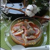 魚介のトマトスープ