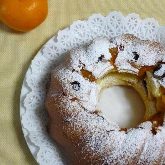クグロフ型でみかんのヨーグルトケーキ