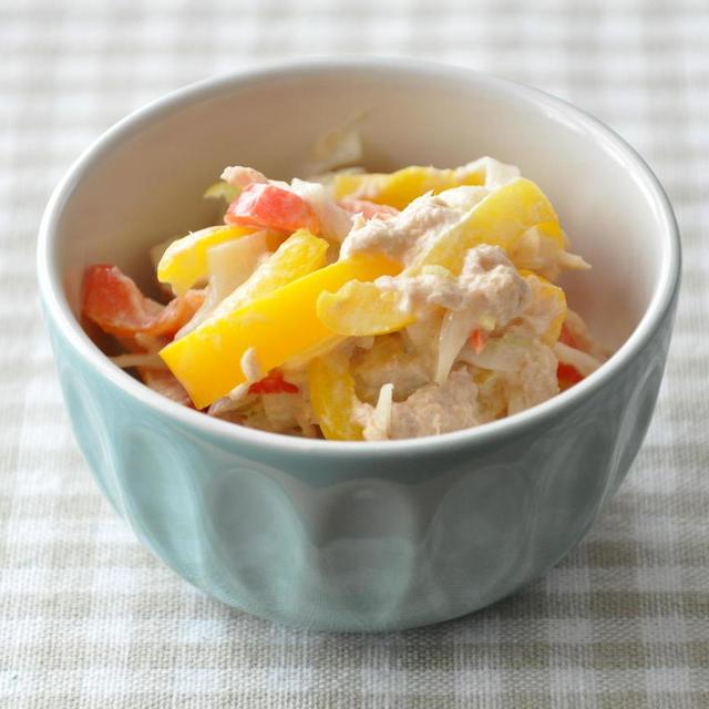 【簡単おかず】手軽でおいしい♡パプリカとツナのサラダ