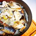 旬の秋、松茸と秋刀魚の炊き込みご飯