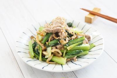 [ダイエット  あなたは◯◯をしていますか?]ボーソー米油!部豚こま肉と小松菜の梅味噌炒め