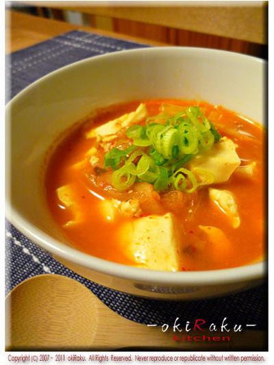 キムチ煮込み豆腐
