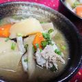 【レシピ】レンチンで楽チン!モリモリ具だくさん豚汁【簡単★お手軽★決め手は生姜!】