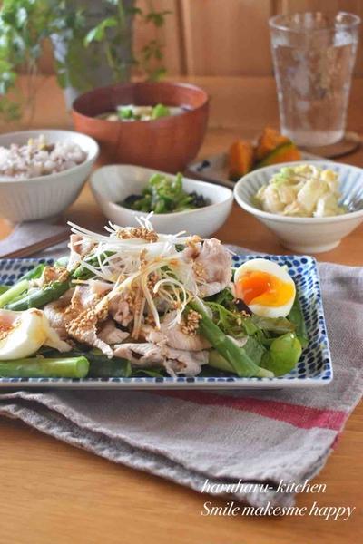 【レシピ】豚しゃぶわさびドレッシングサラダ✳︎ヘルシー✳︎ドレッシング✳︎野菜サラダ…お家ごはん。