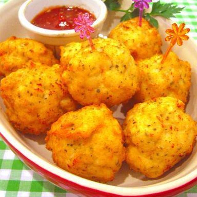 バジルチーズチキンボール♪簡単クリスマスおもてなしレシピ