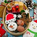 海苔弁で簡単クリスマス弁当✰プチフランクトナカイ by とまとママさん