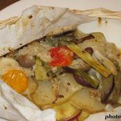 野菜の紙包み焼〜グリーンカレー風味〜