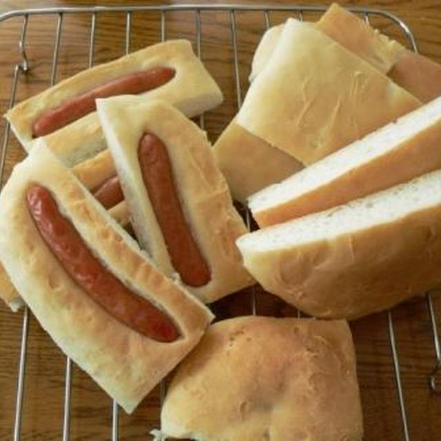 楽チン♪米粉ウインナーパン&米粉あんぱん