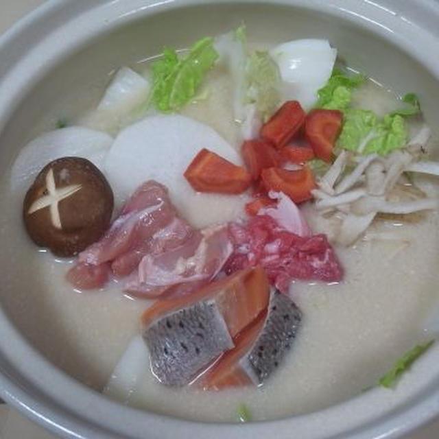 温まる酒粕鍋(レシピ)