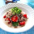 サバ缶とブロッコリーのごまポンサラダ【レンジでかんたん低糖質おかず】 レシピ・作り方