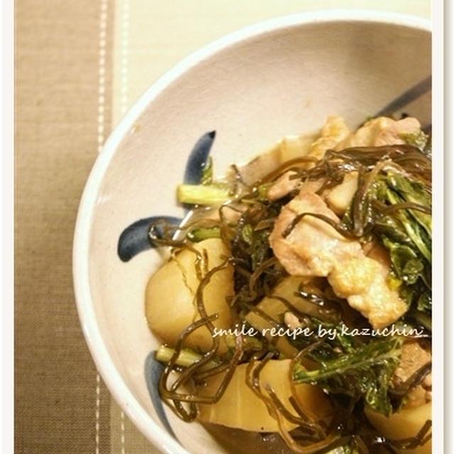 大根と鶏肉の塩昆布煮