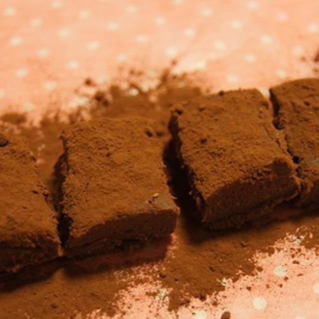 バレンタインデーに簡単生チョコレシピ♪