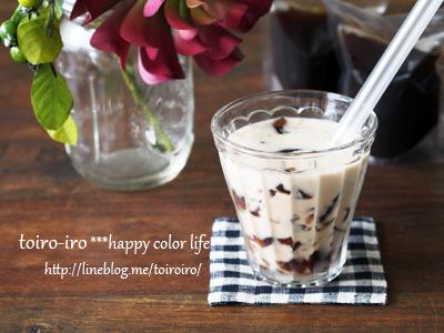 スタンドパックでおやつ作り★クラッシュコーヒーゼリーミルク