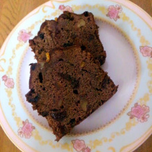 ★オレンジピールのチョコパウンドケーキ