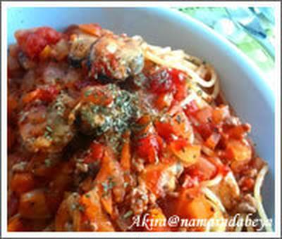 簡単【トマトと茄子のアンチョビ風味パスタ】の作り方