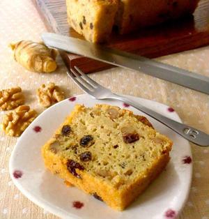 クルミと生姜紅茶のパウンドケーキ