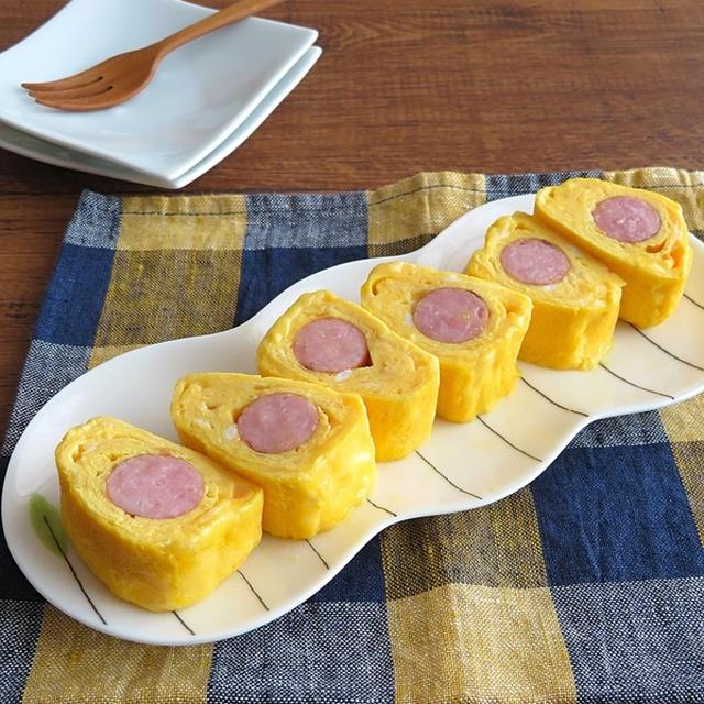 簡単☆お弁当やおつまみに◎ウインナーの卵焼き☆チーズ入り♪