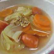 粒マスタード入りキャベツのスープ