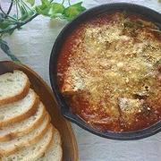 包丁いらず♪スキレット de さば味噌煮缶とキャベツのトマト煮