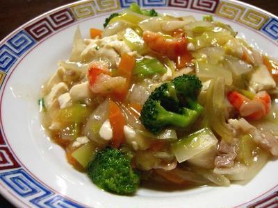 >海老とブロッコリーの什景豆腐丼 by トムソウヤさん