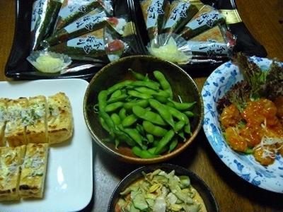 手巻き寿司☆冷やし茶漬け