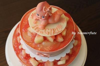 桃と紅茶のムースケーキ☆日本へ一時帰国