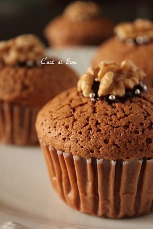 米粉のチョコレートマフィン
