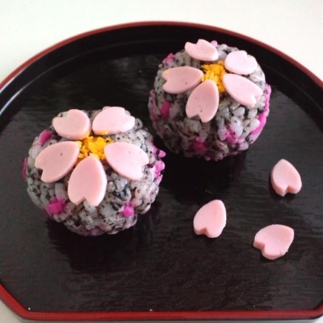 和菓子風♡桜手毬寿司2夜桜