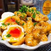 【レシピ】鶏むね肉で!しっとり甘辛チキン