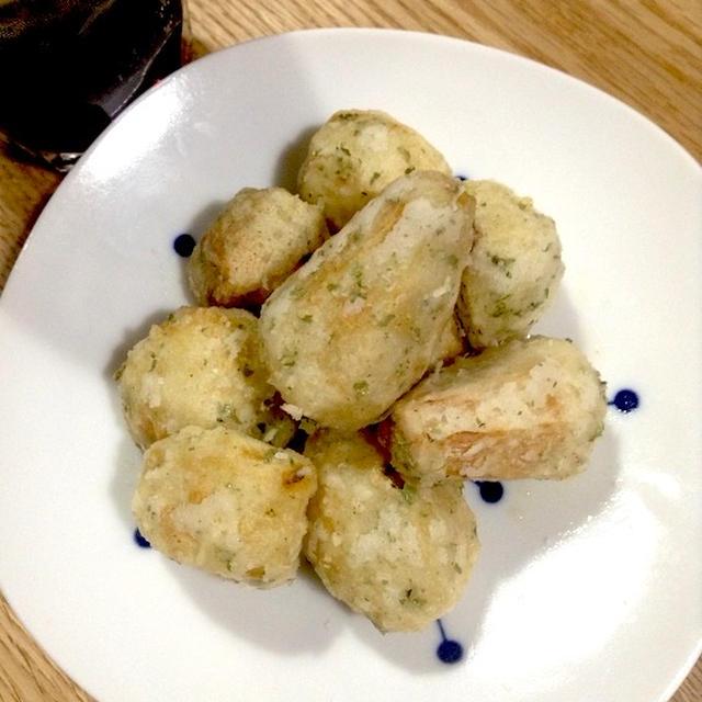 里芋を簡単おつまみに・・・ 「里芋の磯辺揚げ」
