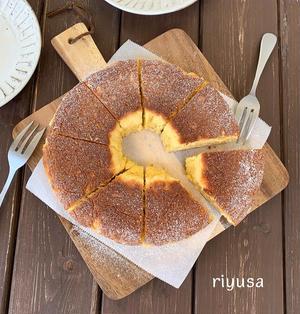 【フライパンで簡単】クリームチーズのリングケーキ