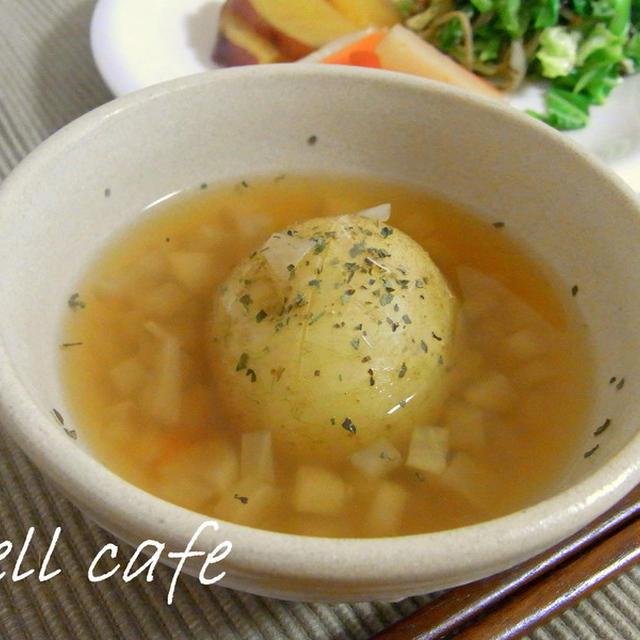 ほくほくきたあかりの和風スープ