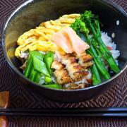 穴子のレンジ蒸し寿司