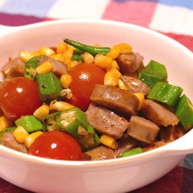 夏野菜とソーセージのチリ炒め~スパイス大使