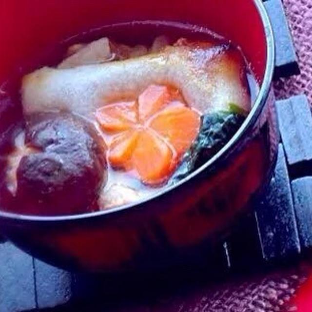 鶏の雑煮 O-zoni of Chicken