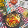 残ったカレーのリメイクでランチ・・野菜たっぷり・目玉焼きのせ焼きカレー