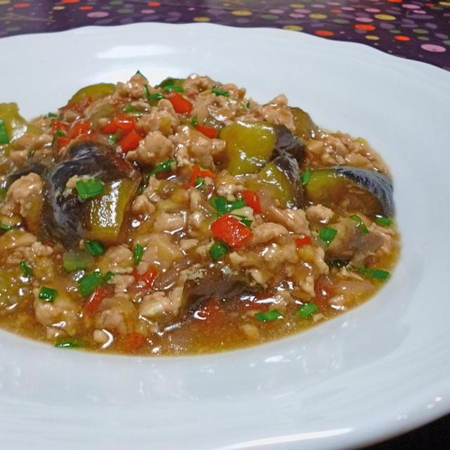 トロトロ茄子とひき肉の炒め煮