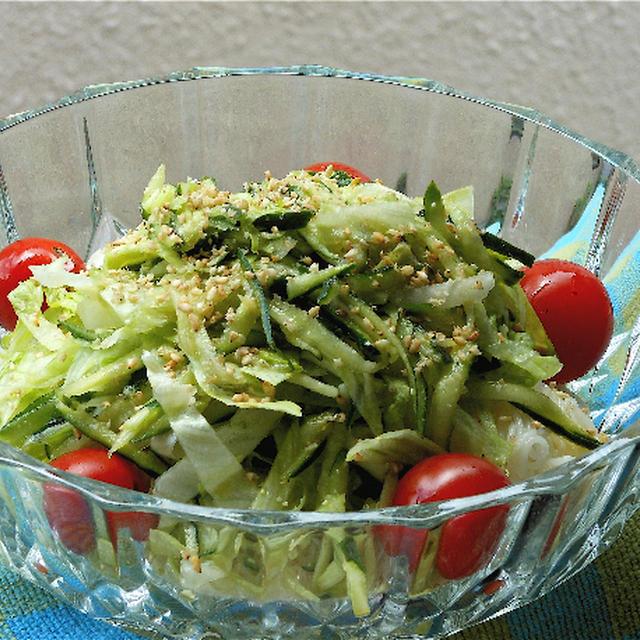 野菜も一緒にたっぷり!で、サラダそうめん