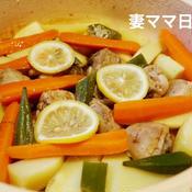 鶏肉とジャガイモのレモン煮