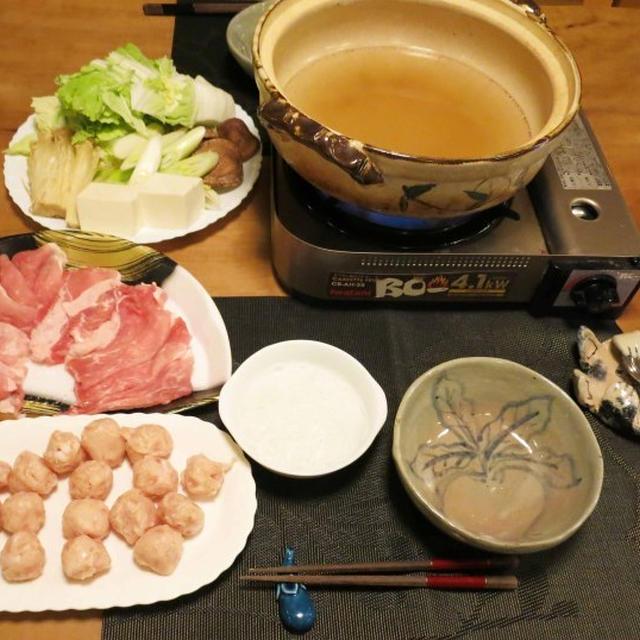塩ちゃんこ鍋~の晩ご飯 と 栗ご飯~のお弁当♪