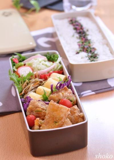 ピリッと辛い油淋鶏のお弁当と新しいお弁当箱