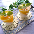 暑い日のおやつに♪ミルクとオレンジの2色ゼリー by TOMO(柴犬プリン)さん