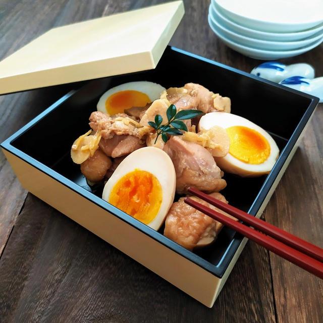 鶏肉と玉子の煮物