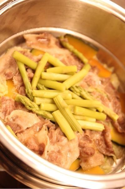 自家製ポン酢de蒸し鍋